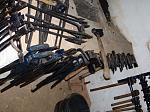 Blacksmith forging tool around forge
